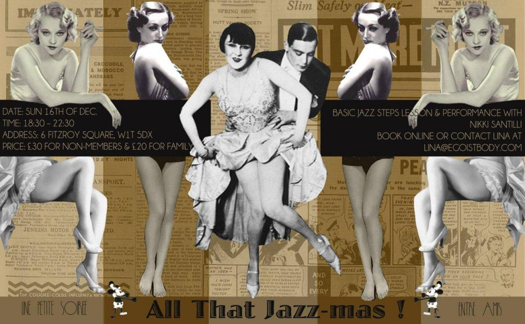 Jazz-mas invitation graphic